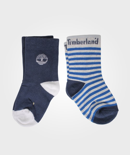 Timberland Clothing Socks 2-pack Navy Blue