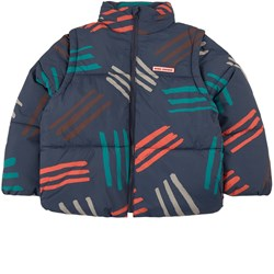 Bobo Choses All Over Scratch Puffer Jacket Twilight Blue