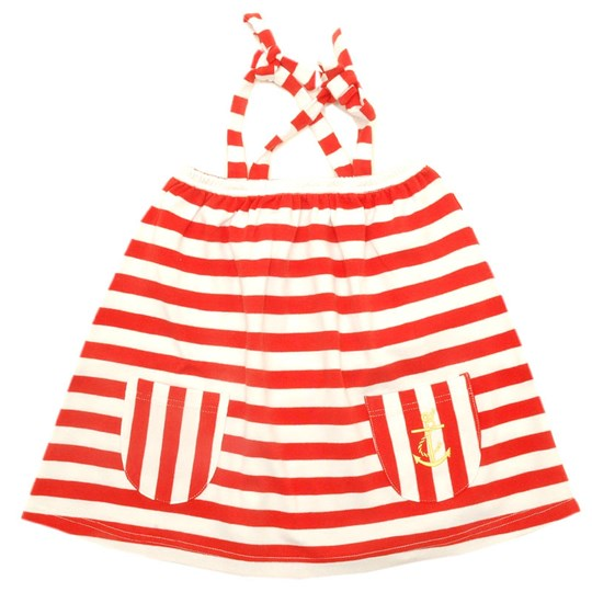 Moonkids Dress Interlock Red/White Red