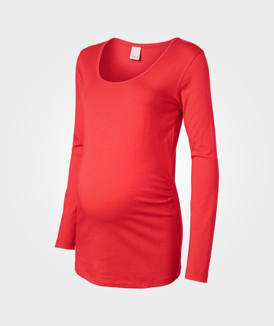 Mamalicious Emma LS Jersey Top Poppy Red Red
