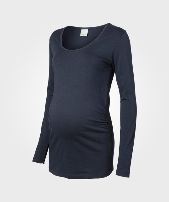 Mamalicious Emma LS Jersey Top Dk Navy Blue