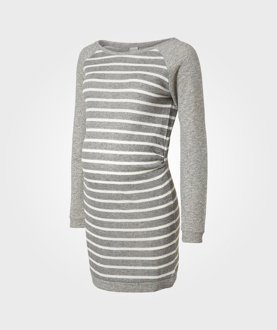 Mamalicious Uni LS Sweat Dress Grey Black