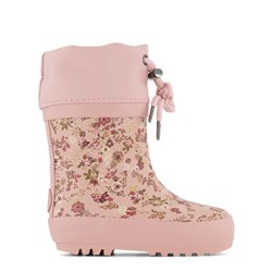 Wheat Thermo Rain Boots Snow Flowers