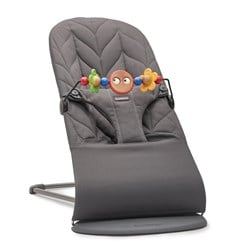 Babybjörn Bliss Petal Quilt Bouncer With A Toy Bar Anthracite