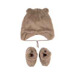 Barts Noa Hat And Booties Set Brown