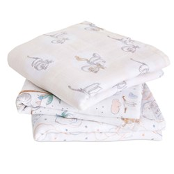 Aden + Anais 3-Pack Dumbo Musy Muslin Cloths My Darling Dumbo Collection