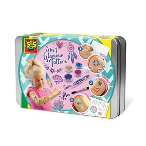 Image of SES Creative 3 in 1 Glamour tattoos 5 - 10 år (2027992)
