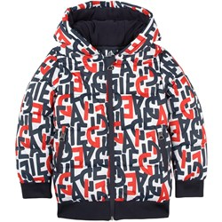 Aigle Red Multi All Over Aigle Print Puffer Jacket