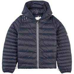 Aigle Navy Puffer Jacket with Reflective Tape on Hood