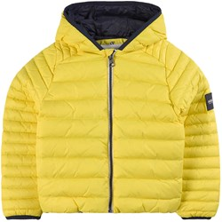 Aigle Yellow Puffer Jacket with Reflective Tape on Hood