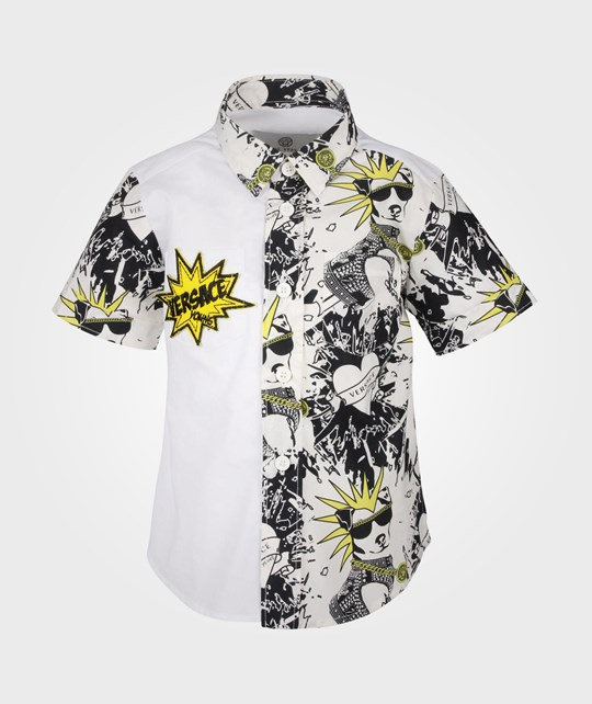 Young Versace Shirt White/Black Multi