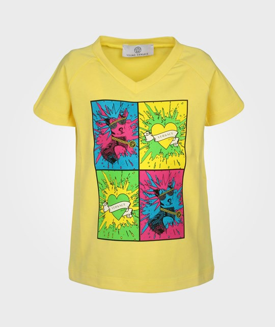 Young Versace T-Shirt Yellow Yellow