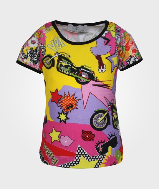 Young Versace T-Shirt Multicolor Multi