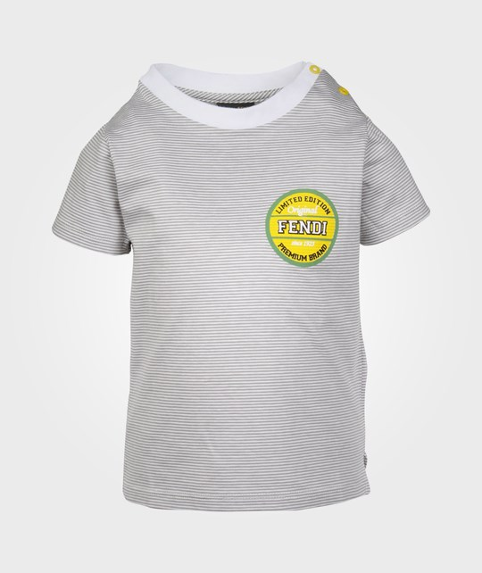 Fendi T-shirt Ivory Grey Black