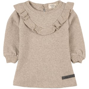 Image of My Little Cozmo Baby Ruffle Dress Recycled Beige 12 mdr (1950989)