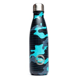 Hype Wave Camo Stainless Steel Bottle Black