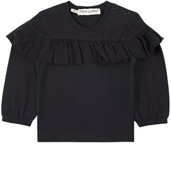 Sproet & Sprout Ruffle T-Shirt Black