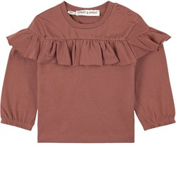 Sproet & Sprout Ruffle T-Shirt Pink