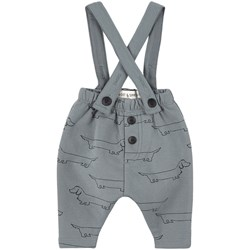 Sproet & Sprout Sausage Dog Print Overalls Blue