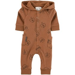 Sproet & Sprout Apple Print One-piece Brown
