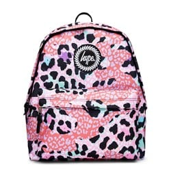 Hype Leopard Camo Backpack Pink