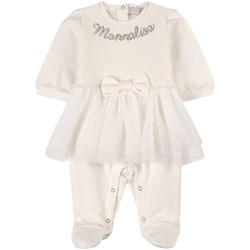 Monnalisa Footed Baby Body White
