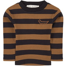 Sproet & Sprout Striped T-Shirt Brown