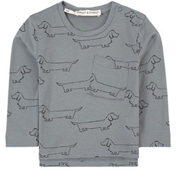 Sproet & Sprout Sausage Dog T-Shirt Blue
