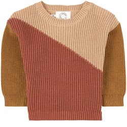 Sproet & Sprout Colorblock Sweater Beige