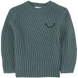 Sproet & Sprout Smile Sweater Teal