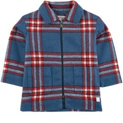 Sproet & Sprout Checked Coat Blue