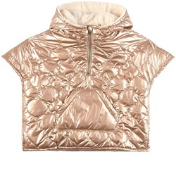 IKKS Quilted Cape Gold Metallic