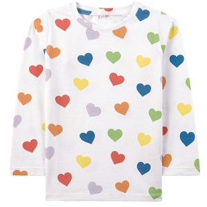 Image of A Happy Brand Pride Hearts T-shirt Hvid 110/116 cm (1945653)