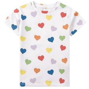Image of A Happy Brand Hearts T-shirt Hvid 110/116 cm (1945658)