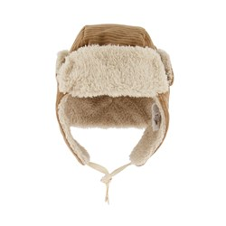 búho Baby Velour Trapper Hat Muscade