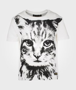 Finger In The Nose Dalton SS T-Shirt Offwhite Black Cat