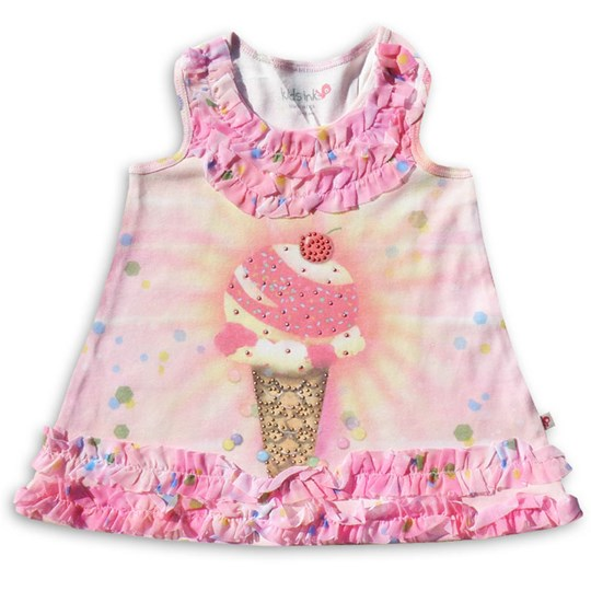 Kids Ink Dress Sprinkle Delight Pink