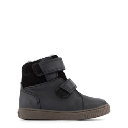 Wheat Hunter Velcro Tex Ankle Boots Black