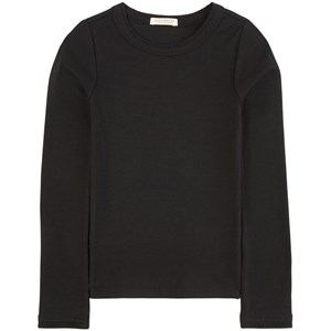 Image of Scotch & Soda Black Long-sleeved Fitted Rib Tee 10 år (2025614)