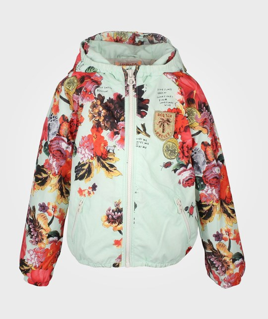Scotch R'belle Nylon Jacket With Floral Allover Print Multi