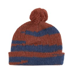 Maed for Mini Howling Hamster Beanie Caramel/Blue Tiger Aop