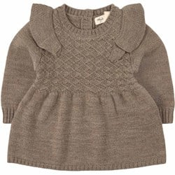 Little Jalo Knitted Dress Wood Brown