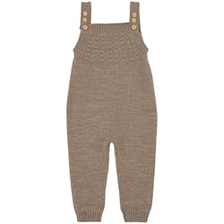 Little Jalo Knit Overalls Wood Brown