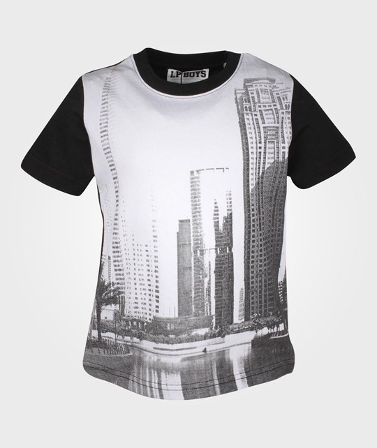 Little Pieces LPB Skyline SS Tee Black Black