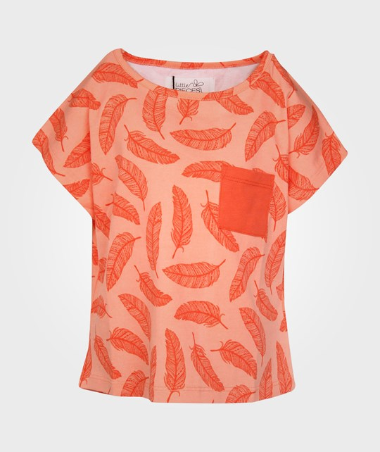 Little Pieces Little Larm SS Top Clear Coral Pink