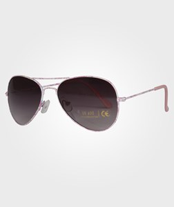 Little Pieces Little Aviator Sunglasses Clear Coral