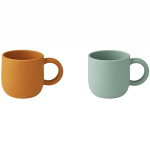 Image of Liewood 2-Pack Merce Cups Mustard/Peppermint one size (1971993)