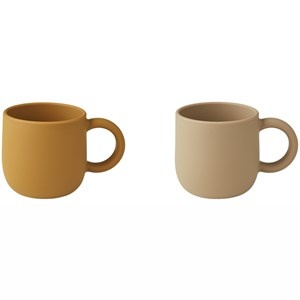 Image of Liewood 2-Pack Merce Cups Golden Caramel/Oat Mix one size (1971990)