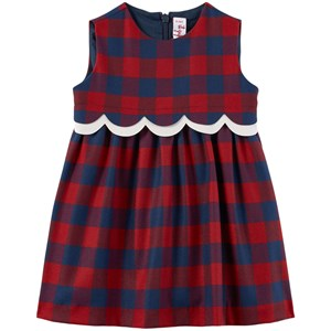 Image of Il Gufo Checkered Dress Red 6 mdr (1979093)