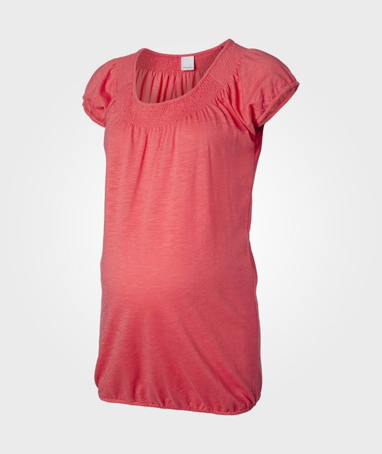 Mamalicious Thrill SS Jersey Top Calypso Coral Pink